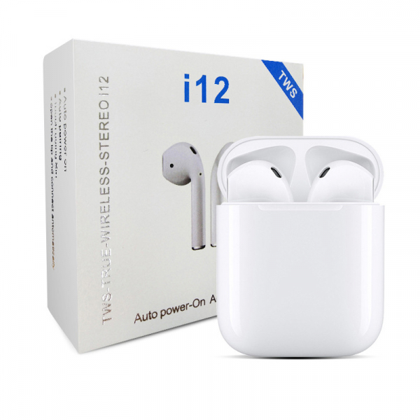 Casti Bluetooth Wireless Stereo i12 Fara Fir Model 2019 Compatibile cu Apple si Android 6
