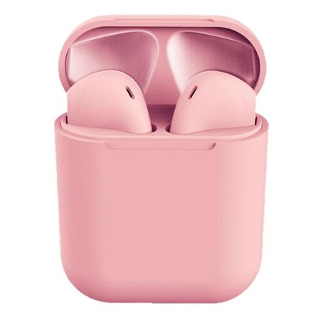 Casti Bluetooth Wireless Stereo inPods12 Pink Fara Fir Compatibile cu Apple si Android 0
