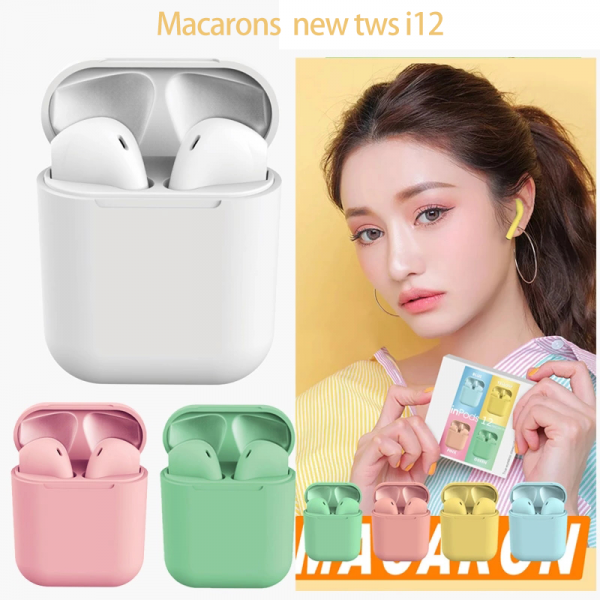 Casti Bluetooth Wireless Stereo inPods12 Pink Fara Fir Compatibile cu Apple si Android [4]