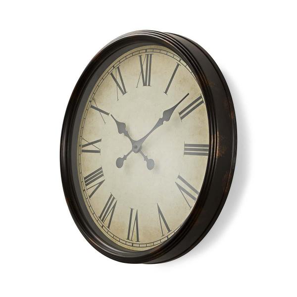 Ceas de perete de lemn stil antic 50 cm Nedis 0