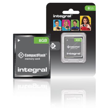 CF (Compact Flash) Memory Card 8 GB, Integral 0