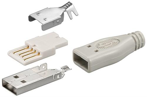 Conector USB A tata cu lipire 0