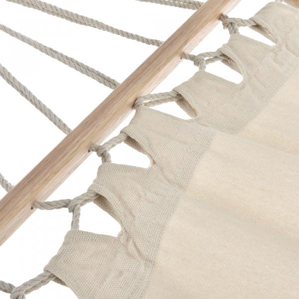 Hamac ABLS-6002, 275 x 80 cm, bumbac/poliester, crem[casa.pro]® 3
