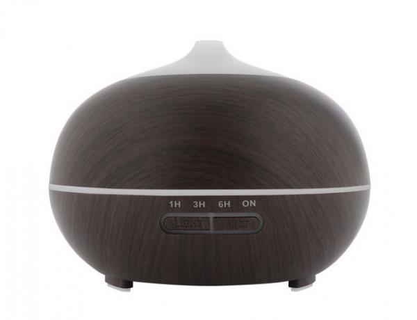 Difuzor uleiuri esentiale, umidificator aromaterapie, ultrasunete cu telecomanda 300 ml, mahon 3