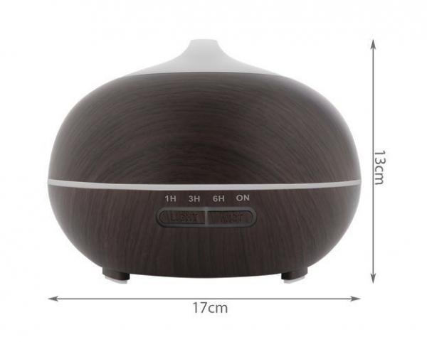 Difuzor uleiuri esentiale, umidificator aromaterapie, ultrasunete cu telecomanda 300 ml, mahon 5