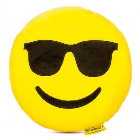 Perna decorativa Emoji cu ochelari de soare Happy Face 0