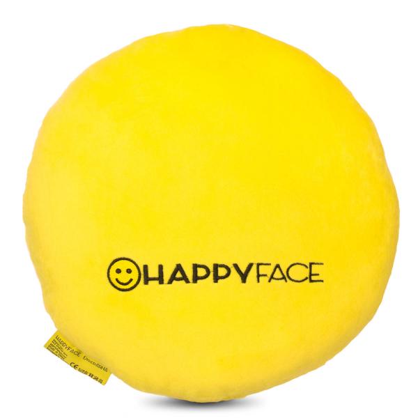 Perna decorativa Emoji Smiley Happy Face, Textil, Galben 1