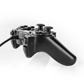 Gamepad cu fir USB, functie vibrare, 12 butoane, Nedis 1