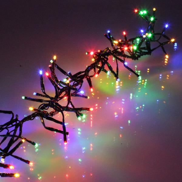 Ghirlanda luminoasa decorativa cu LED multicolor cablu negru WELL 0