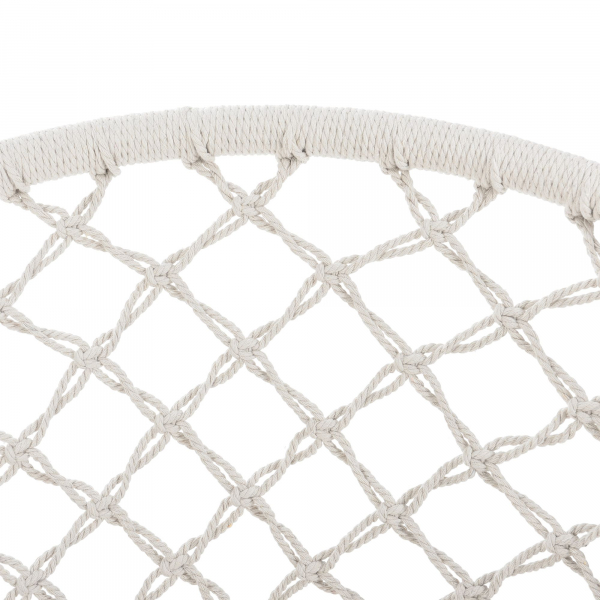 Hamac scaun ABLS-6003, 140 cm, otel/bumbac/poliester, crem 4