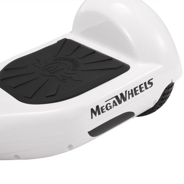 Hoverboard Electric , Megawheels, Alb, Autonomie 15 km, Viteza max. 10km/H 3