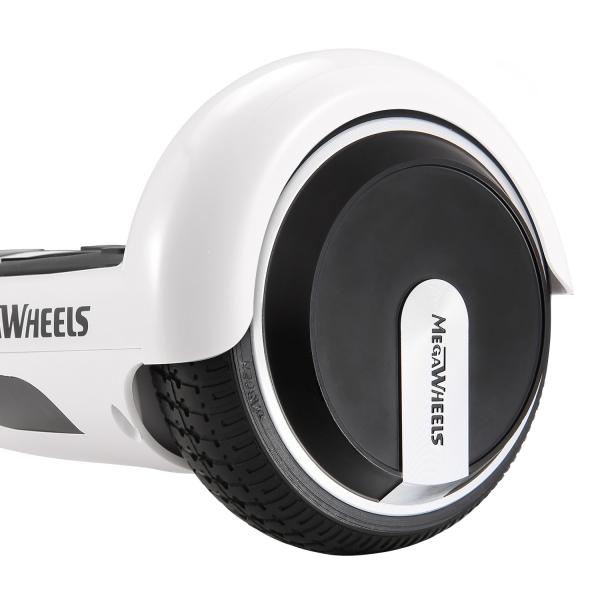 Hoverboard Electric , Megawheels, Alb, Autonomie 15 km, Viteza max. 10km/H 6