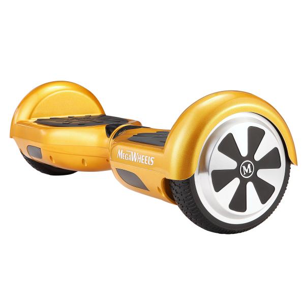 Hoverboard Electric , Megawheels, Auriu / Gold , Autonomie 15 km, Viteza max. 10km/H 1