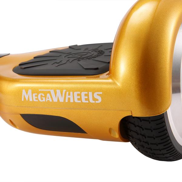 Hoverboard Electric , Megawheels, Auriu / Gold , Autonomie 15 km, Viteza max. 10km/H 4