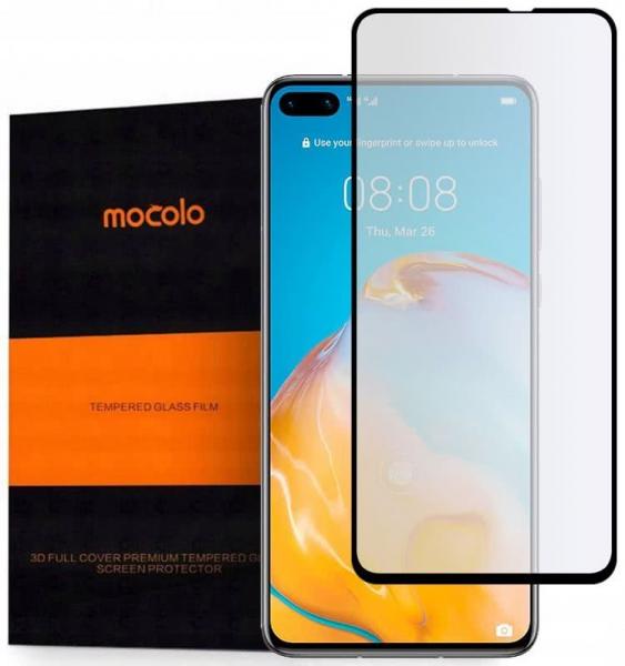Folie Sticla de Protectie Tempered Galss Pentru Huawei P40, Negru, Mocolo [0]