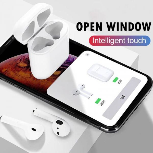 Casti Bluetooth Wireless Stereo i12 Fara Fir Model 2019 Compatibile cu Apple si Android 2