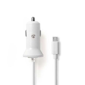 Incarcator auto Micro USB 2.4 A alb, Nedis [0]