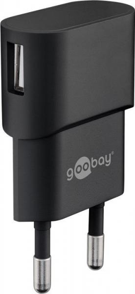 Incarcator de retea USB 1A negru Goobay 0