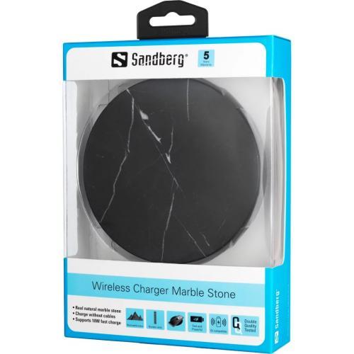 Incarcator wireless din marmura Sandberg 441-31, 10W, negru [1]