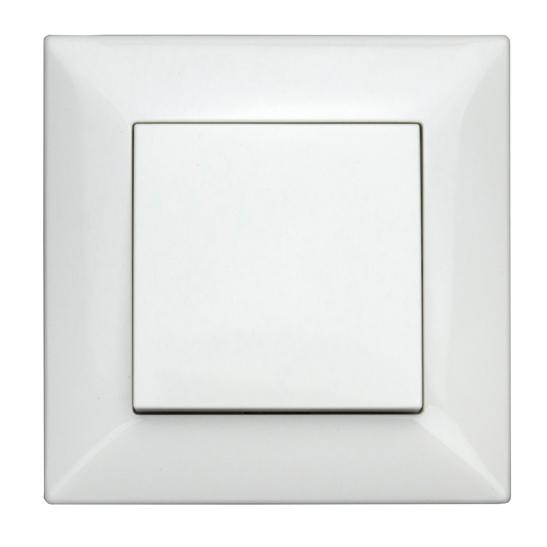 Intrerupator cap-scara Schrack Visio50 EV106011 complet incastrat alb conexiune elastica [0]