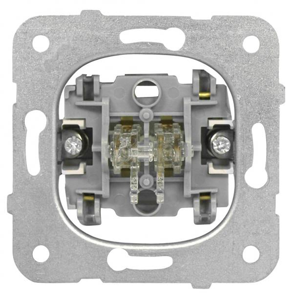 Intrerupator dublu Schrack Visio50 EV100009 incastrat alb conexiune elastica 0