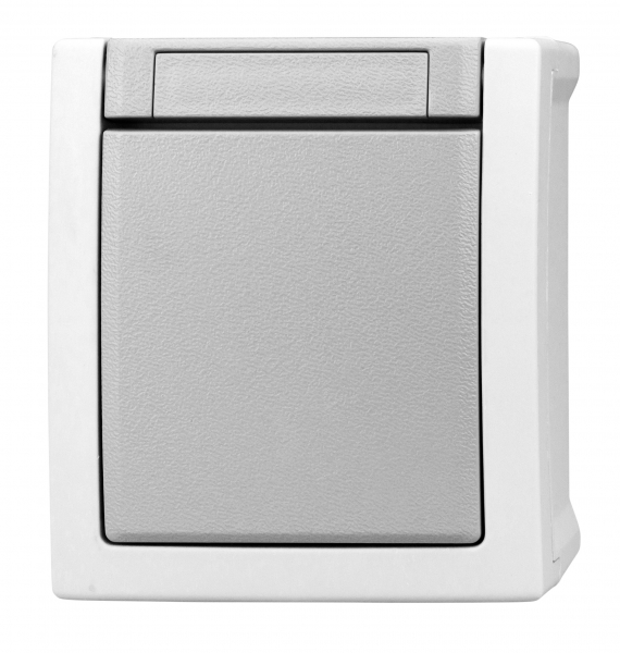 Intrerupator simplu Schrack Visio50 EV210001 aparent gri IP54 conexiune elastica 0