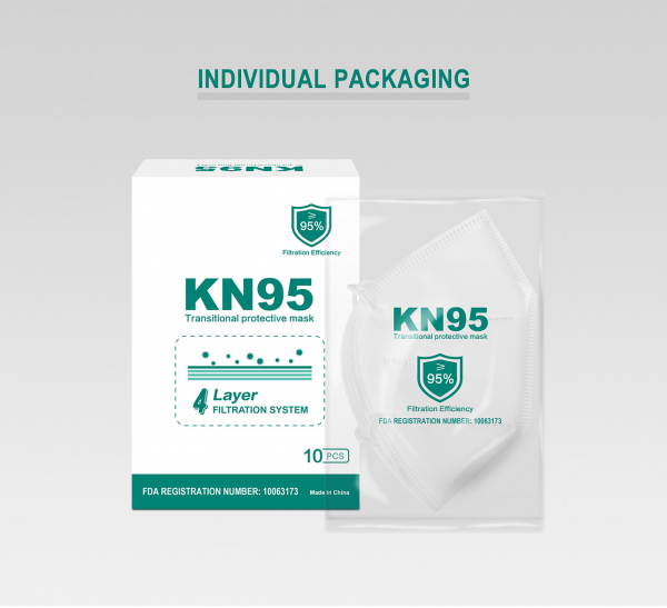 Masca KN95 Faciala Profesionala Set x10 Bucati cu 4 Straturi de Protectie [4]