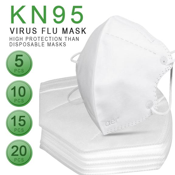 Masca KN95 Faciala Profesionala Set x5 Bucati cu 4 Straturi de Protectie 3