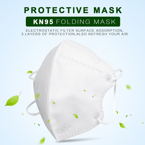 Masca KN95 Faciala Profesionala Set x5 Bucati cu 4 Straturi de Protectie 2