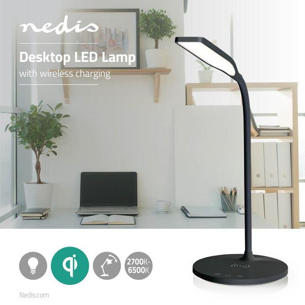 Lampa Birou LED cu Incarcator Wireless QI incorporat 3