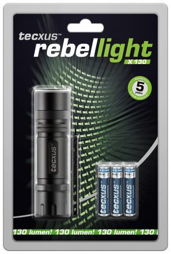 Lanterna cu LED 3W rebellight X130 Tecxus 0