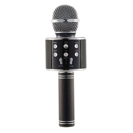 Microfon Wireless Profesional Karaoke Cu Difuzor Bluetooth, Negru 2