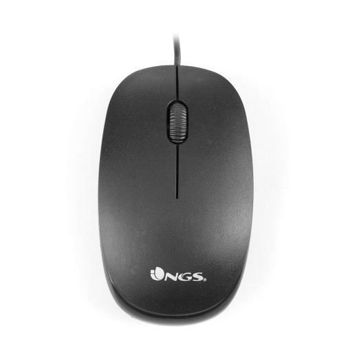 Mouse optic USB 1000dpi negru Flame NGS 0
