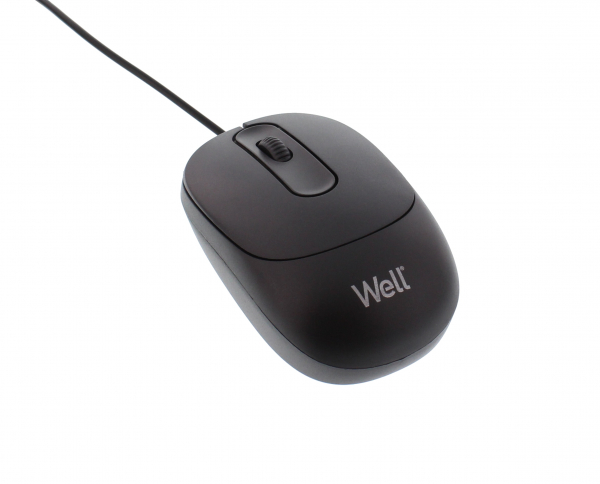 Mouse optic Well MU001 USB negru 0