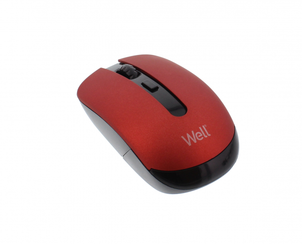 Mouse wireless Well MW101 rosu/negru 0