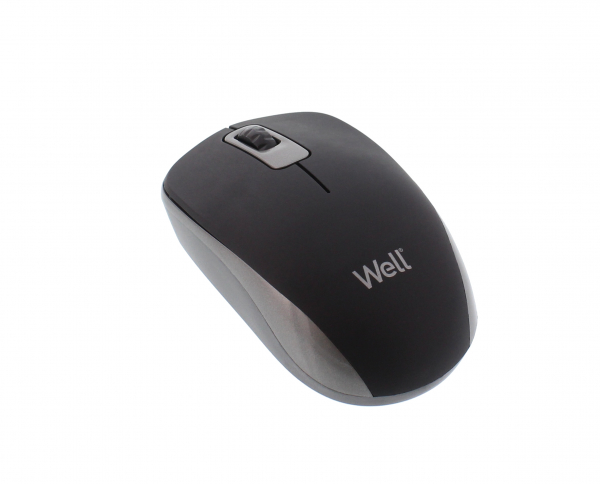 Mouse wireless Well MW102 negru/gri 0