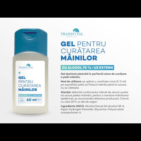 Pachet - Gel antibacterian igienizant Transvital, 5 bucati X 60 ml, 70% Alcool 1