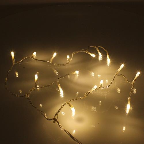 Perdea luminoasa tip turturi 100 LED-uri albe lumina rece cu jocuri de lumini cablu transparent WELL 1