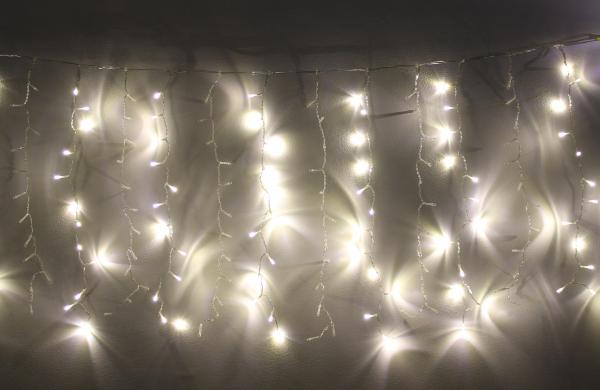 Perdea luminoasa tip turturi 240 LED-uri albe lumina calda interconectabila, WELL 0