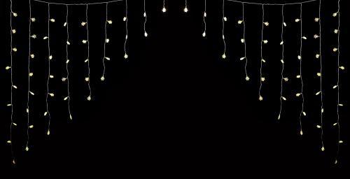 Perdea luminoasa tip turturi cu fulg de nea 90 LED-uri albe lumina calda cablu transparent WELL 2