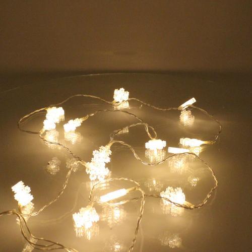Perdea luminoasa tip turturi cu fulg de nea 90 LED-uri albe lumina calda cablu transparent WELL 0