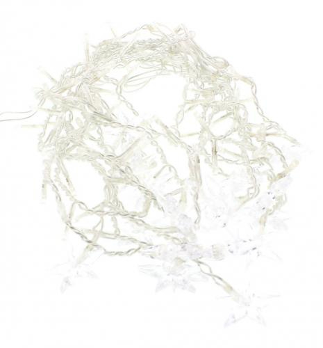 Perdea luminoasa tip turturi cu stele 100 LED-uri albe lumina rece cablu transparent WELL 1
