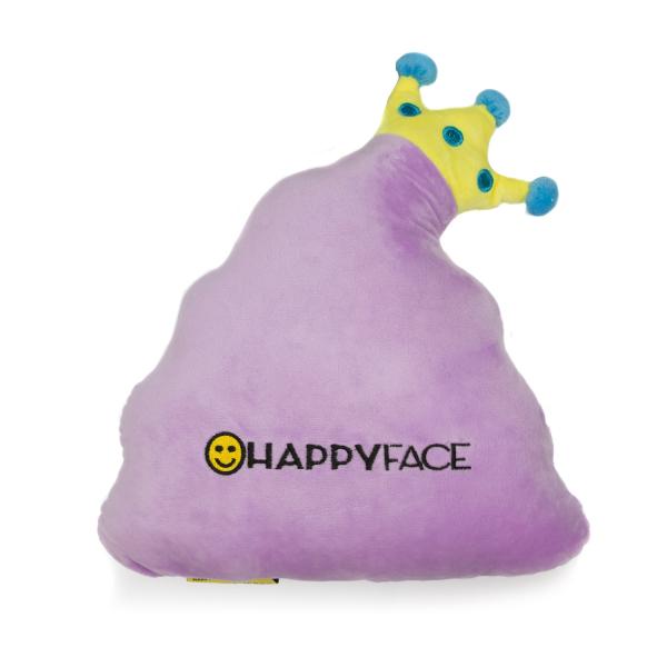 Perna decorativa Emoji Stil Printesa Roz Happy Face 2