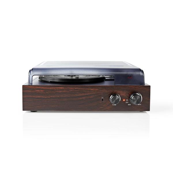 Pick-up Nedis, 18 W, convertor USB, RCA, AUX,  maro 0