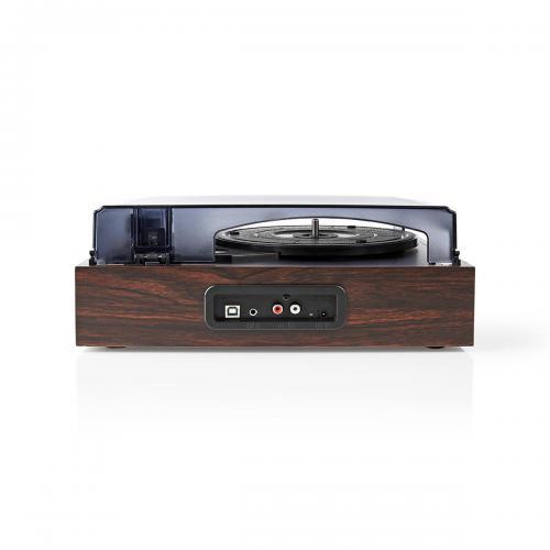 Pick-up Nedis, 18 W, convertor USB, RCA, AUX,  maro 1