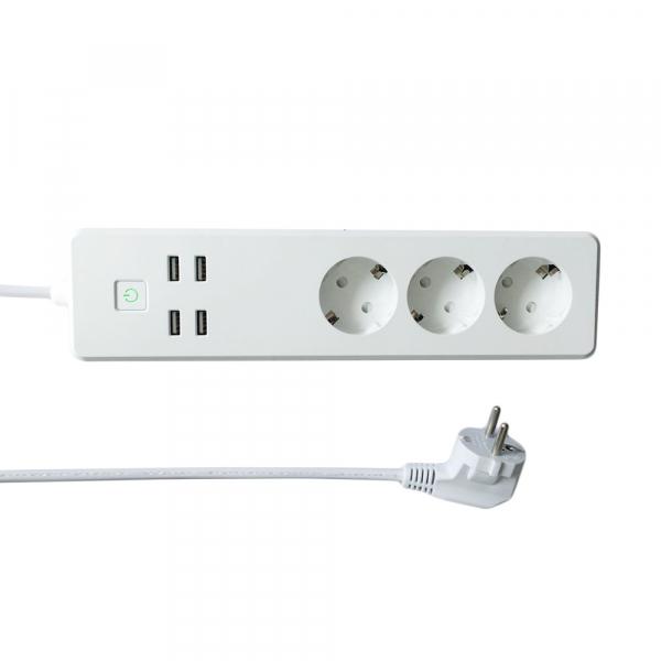 Prelungitor Smart WiFi Woox R4028 3 prize 4x USB 1.8m 0