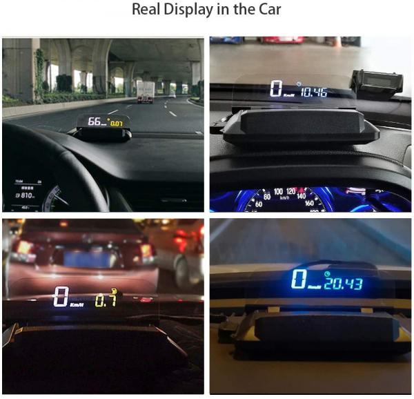 "Proiector informatii de bord pe parbriz, Head-Up Display auto 5"" Vision Well 4"