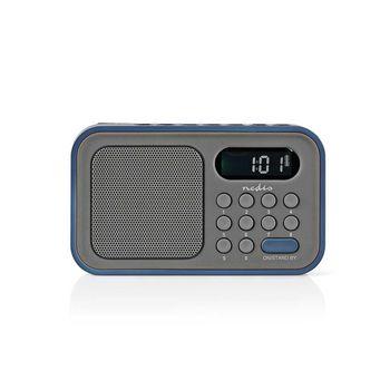 Radio cu ceas si alarma 2.1 W gri/albastru, NEDIS 0