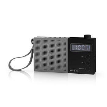 Radio FM cu ceas si alarma 2.1 W gri/negru Nedis 1