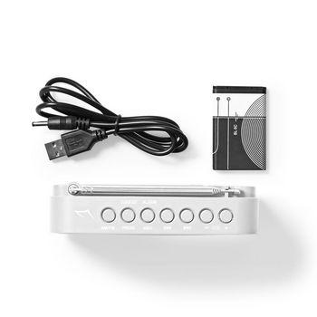Radio portabil FM functie de ceas cu alarma 2.1W gri/alb, Nedis 3